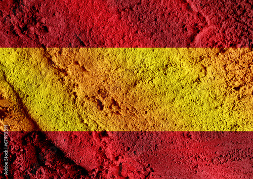 Wallpaper Mural spain flag and map Country shape idea design