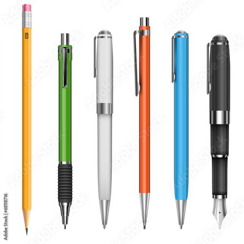Foto Kugelschreiber und Bleistifte