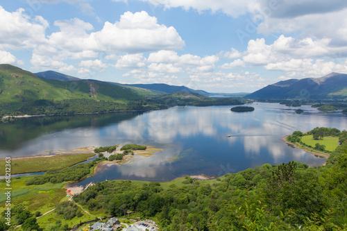 Fotografiet Derwent Water Lake District National Park Cumbria