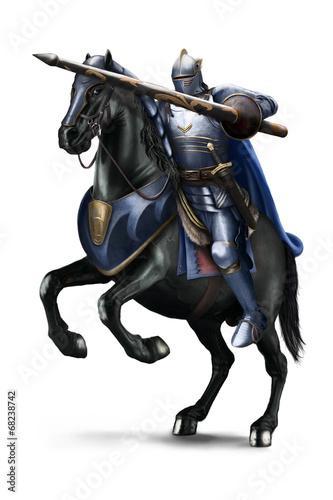 Valokuvatapetti Knight Attack - Cavaliere