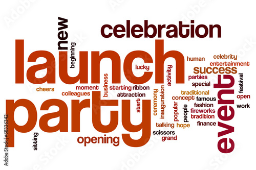 Launch party word cloud #68336342