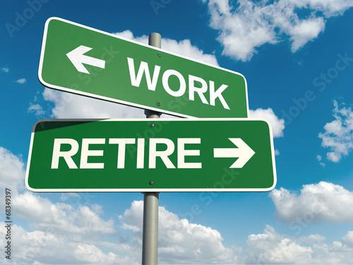 Fototapeta work retire