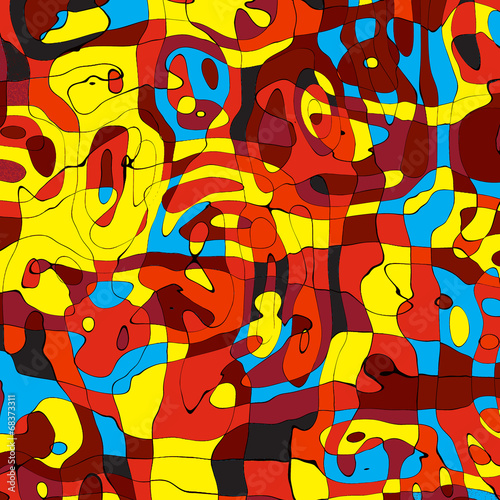 Seamless pop art abstract colorful background