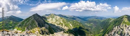 Panorama from the mountain top - West Tatras, Slovakia #68555973