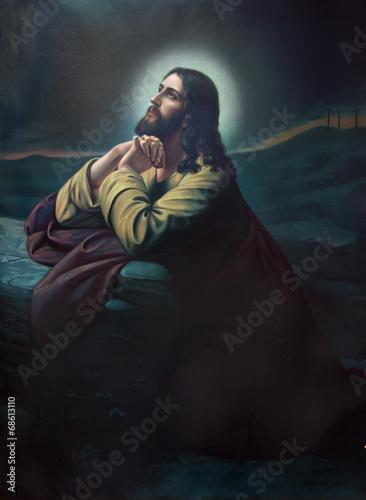 Εκτύπωση καμβά The prayer of Jesus in the Gethsemane garden.