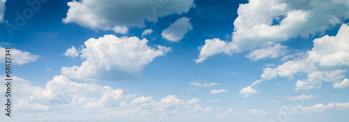 Canvas Print blue sky background with clouds