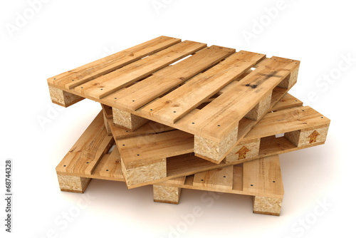 Fotografia Stack of wooden pallets.