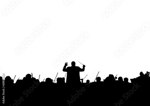 Fotografia Symphony Orchestra in the form of a silhouette