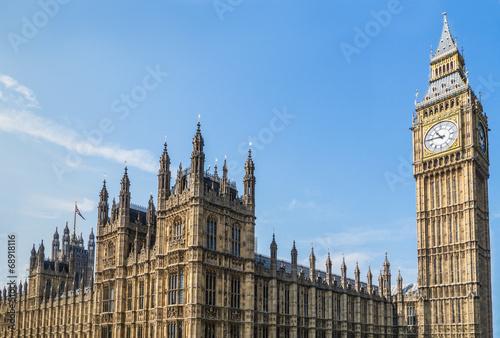 Obraz na plátně Palace of Westminster and Big Ben