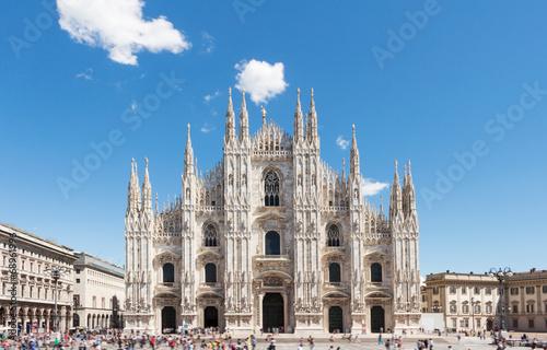 Canvas Print Duomo of Milan,Italy.Cathedral.Travel landmark.Piazza del Duomo.