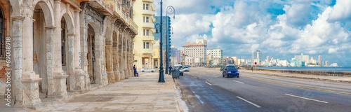 The skyline of Havana along Malecon avenue