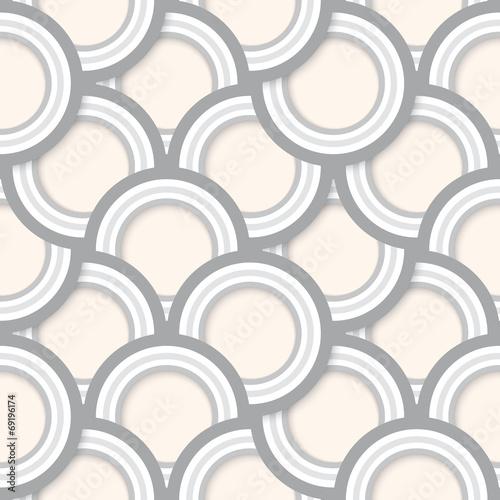 Seamless Abstract Retro Circles Pattern