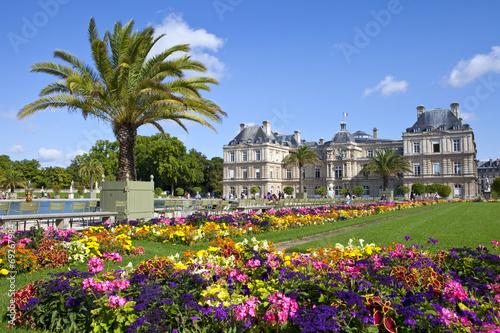 Fototapeta Luxembourg Palace in Jardin du Luxembourg in Paris