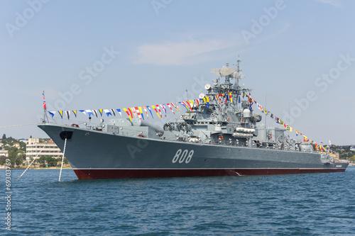 Foto Sevastopol, the Navy holiday, flagship, flagman