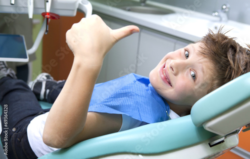 Young boy in a dental surgery #69364328