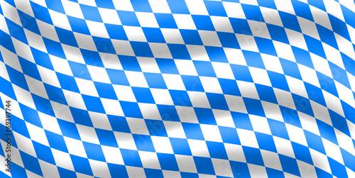 Cuadros en Lienzo Bavarian Wavy Flag