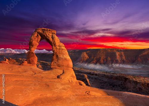Fotografia Delicate Arch at Sunset