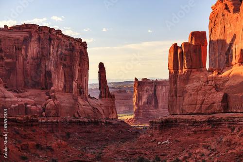 Fotografia Park Avenue Section Arches National Park Moab Utah
