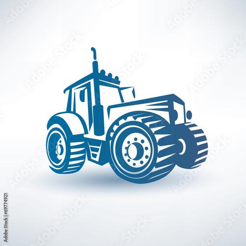 Canvas Print modern traktor vector symbol