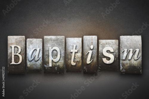 Baptism Letterpress Fotobehang