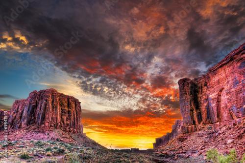 Sunset in the Utah Desert