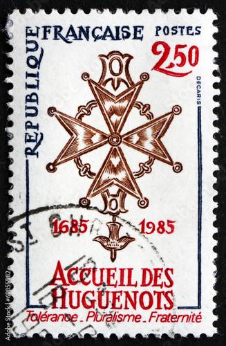 Obraz na płótnie Postage stamp France 1985 Huguenot Cross