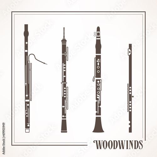 Woodwinds Fototapeta