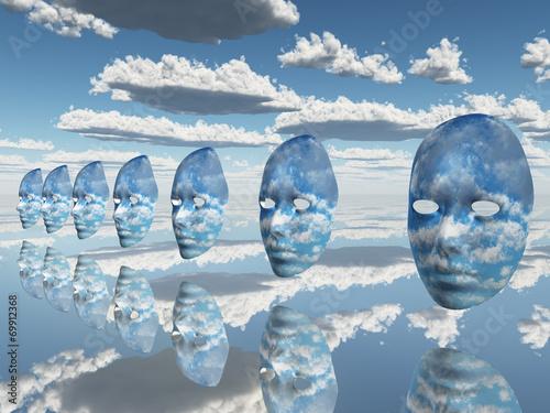 Fototapeta Repeating faces of clouds