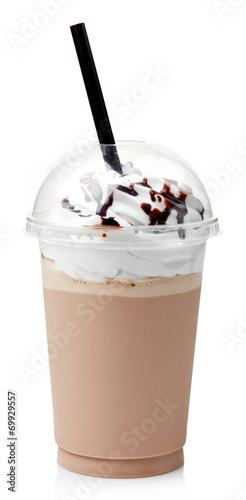Canvas Print Chocolate milkshake