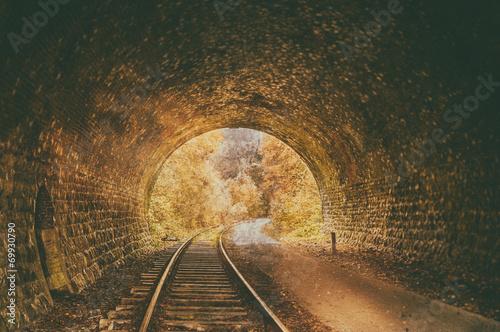 Old abandoned railway tunnel