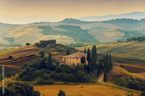 Fototapeta premium Toskania, Włochy - San Quirico d'Orcia