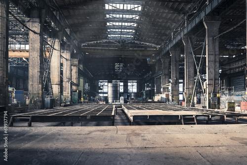 Fototapeta Iron workshop of shipyard