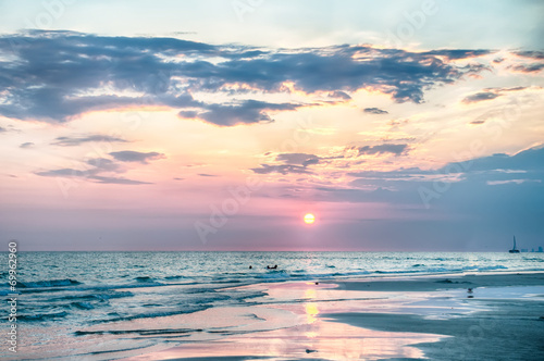 Slika na platnu Sunset on Florida Beach