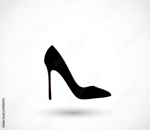 Tablou Canvas Black high heels icon vector