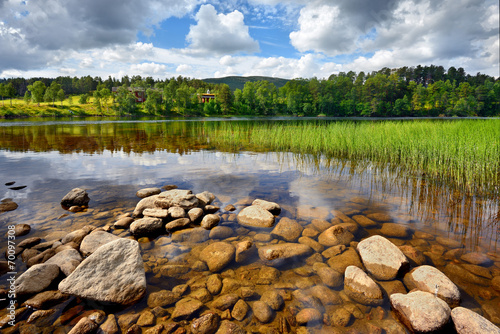 Fototapeta premium Norwegia , krajobraz wiejski