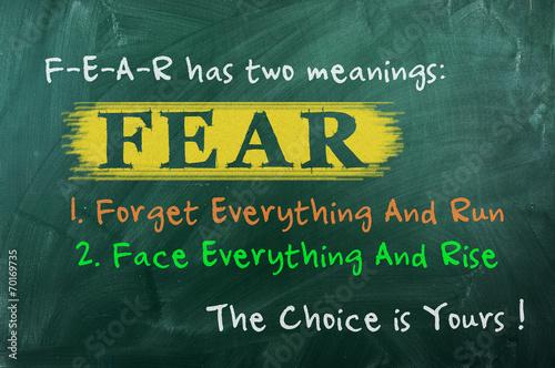 fear concept choice Fotobehang