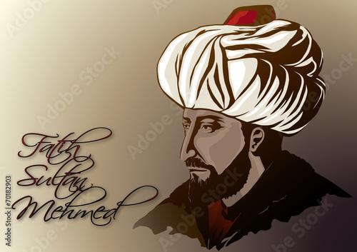 Obraz na plátně Fatih Sultan Mehmed ( renkli )