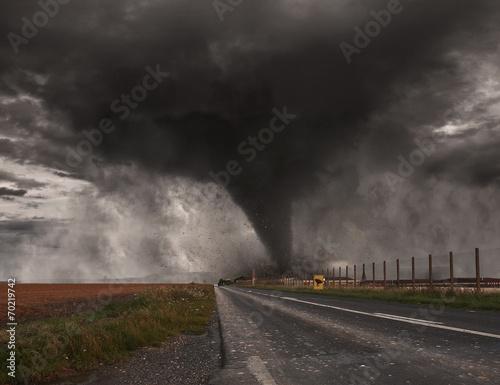 Obraz na plátně Tornado disaster concept