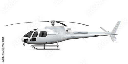 Helicopter Isolated Fototapeta