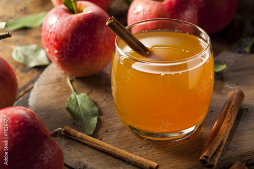 Fotografie, Tablou Organic Apple Cider with Cinnamon