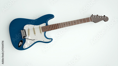 Photo electric guitar on isolated background
