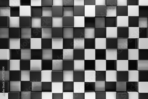 Czarno-białe bloki streszczenie tło