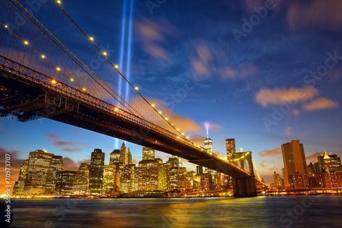 Obraz na płótnie New York City ku pamięci 11 września