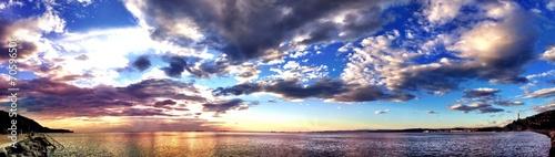 italian sunset at Trieste