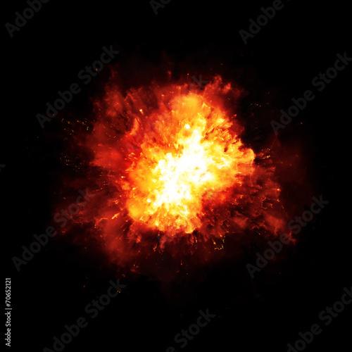 Wallpaper Mural explosion fire