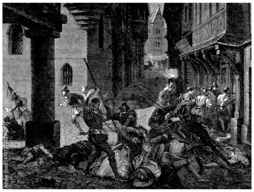 Fotografia Religion Wars : Saint Barthelemy Night - 16th century