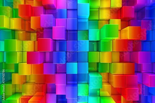 Kolorowe bloki streszczenie tło