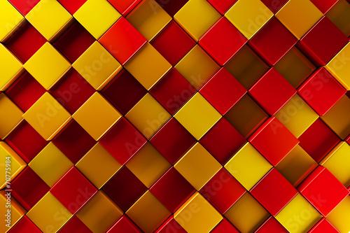 Czerwone i złote bloki streszczenie tło