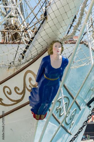 Canvastavla Sailing ship figurehead