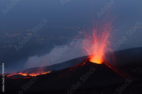 Tablou Canvas Volcano eruption
